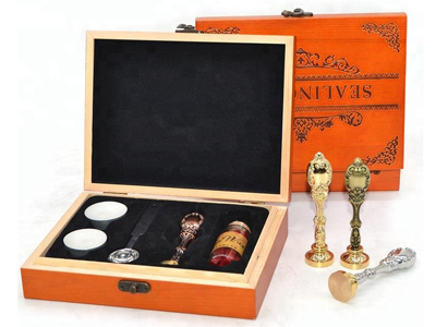 Wooden Box Custom Wax Seal Kit